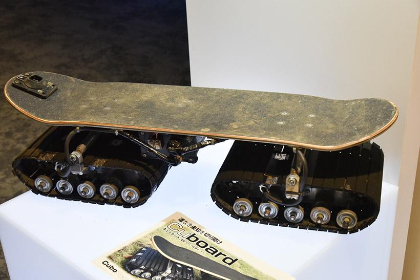 ↑↑あえて使用感のあるものを展示。上部のスケートボード部分は市販品を利用している