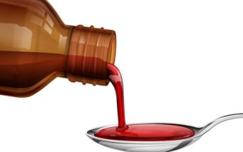 20922756 - illustration of bottle pouring medicine syrup in spoon