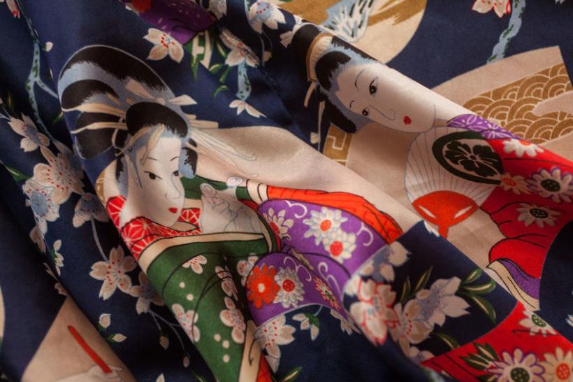 60948308 - decorative kimono floral motif
