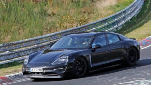 ポルシェ初の市販EV「ミッションE」がニュルで7分30秒をマーク!