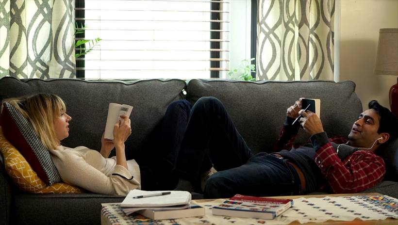 "Zoe Kazan as ""Emily"" and Kumail Nanjiani as ""Kumail"" in THE BIG SICK"