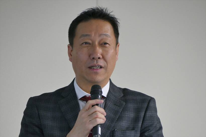 ↑発表会には、MAYA SYSTEMの吉田利一 代表取締役が登壇。同社は2007年に設立し、事業内容はITソリューション事業、コールセンター業務・人材派遣、IoT事業など。同氏は「FREETELブランドの端末は、国内に加え、ベトナムを拠点に東南アジアでも展開したい」との旨を述べていた