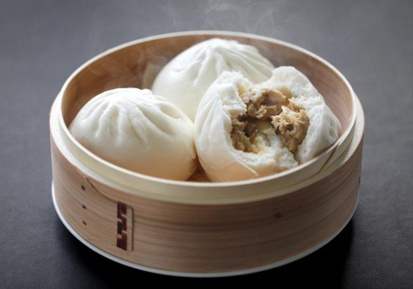 19102309 - steamed pork buns, chinese dim sum
