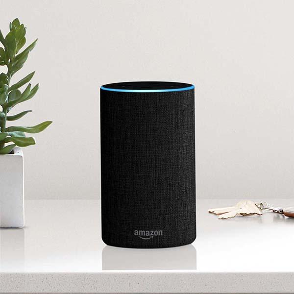 ↑先行発売した「amazon echo」。音声での商品注文にも対応するなど、多彩な機能が高い支持を得る要因となっている