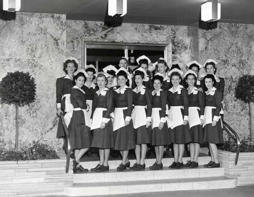 ↑1938年に撮影された、クラシカルなスタイルのコスチューム。今も同じく、アメリカの伝統を感じさせる