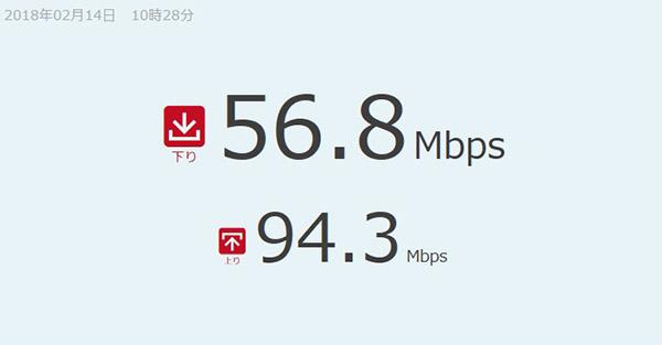 ↑有線LAN接続時