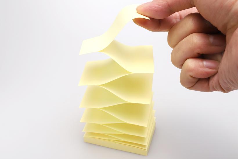 ↑ポップアップ用の専用付箋リフィル。通常の付箋はセットしても使えない