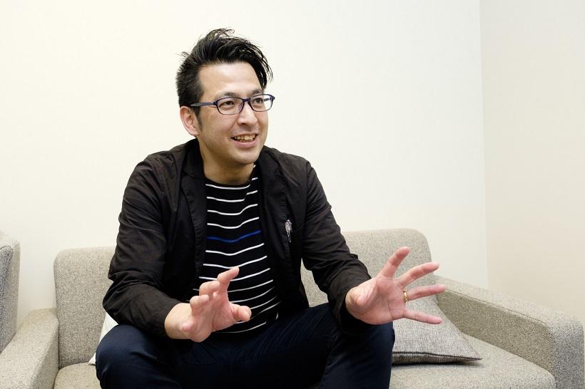 ↑インタビューで「b.g.」の特徴を語っていただいた(株)エンハンラボ 代表取締役社長の座安剛史氏