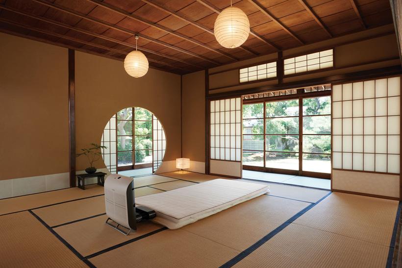 ↑敷きふとんのようにすれば和室でも使えます
