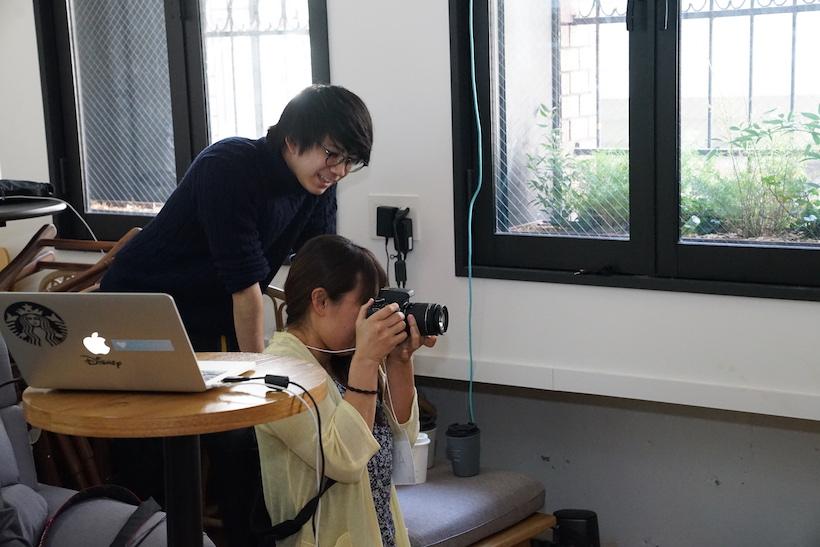 ↑カメラ女子も真剣に撮影