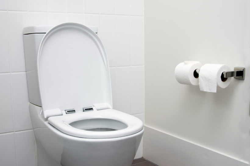 36751656 - white home toilet closeup