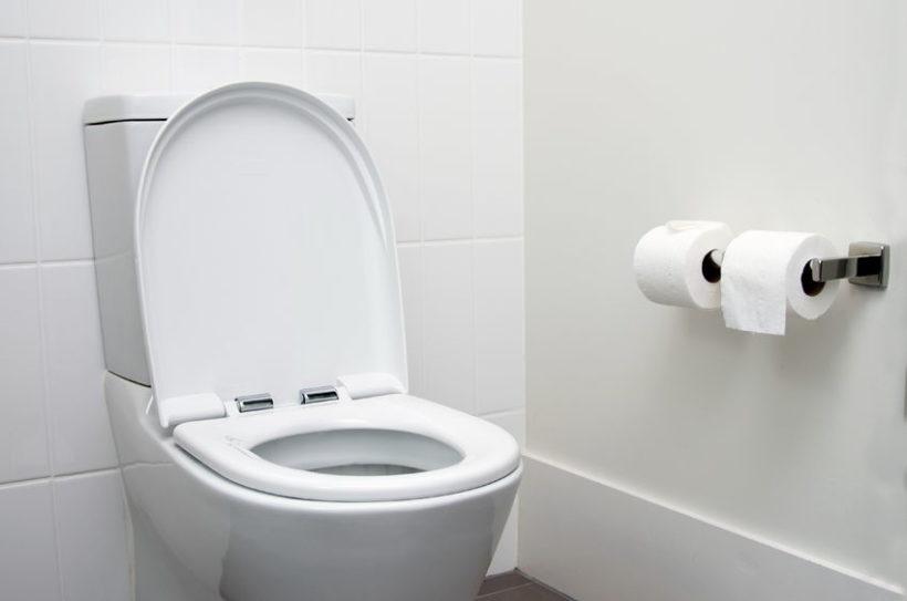 36751656 - white home toilet closeup