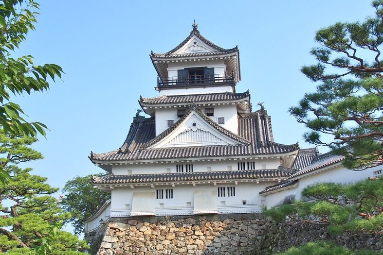 83579063 - kochi castle is a japanese castle in kochi, kochi prefecture, japan. kochi castle is a hilltop castle that was built by yamanouchi kazutoyo in 1601 and was completed in 1611.