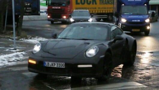 次世代型ポルシェ「911ターボ」に市販型パーツ装着!? 最終デザインが見えてきた!