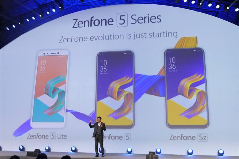 ↑ZenFone 5と5zは同じ筐体となり、チップセットなどが異なる