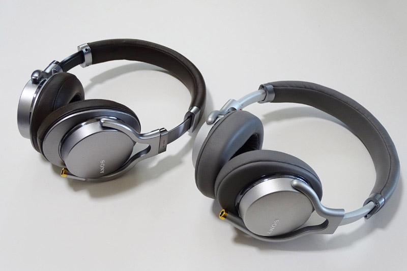↑ソニーのハイレゾ対応ポータブルヘッドホンの新旧モデルを比較してみた。右側が3月10日に発売される「MDR-1AM2」。左が「MDR-1A」