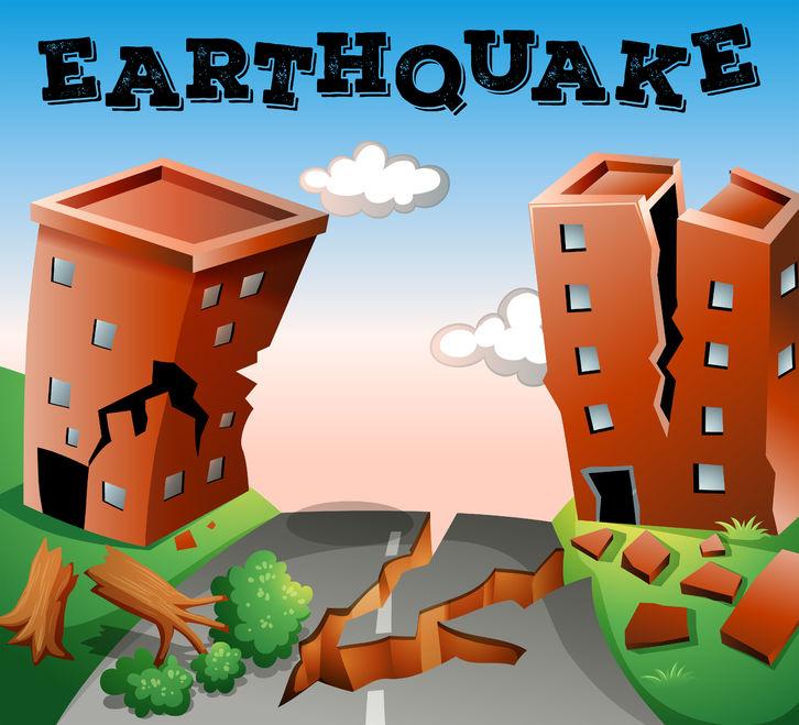 49391585 - natural disaster scene of earthquake illustration