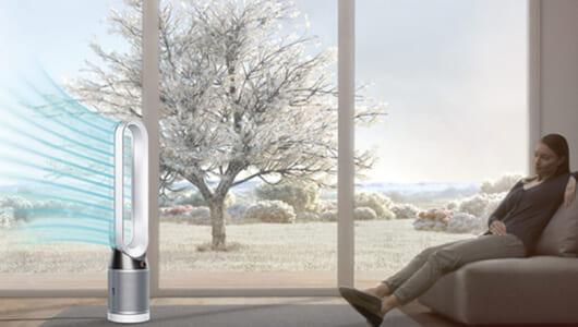 """人気No.1! ダイソンの新しい空気清浄タワーファンは空気の汚れ""""まる視え"""""""