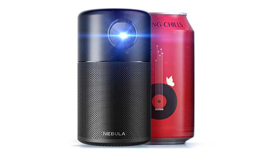 350ml缶サイズに機能を凝縮! 360度スピーカー内蔵のAndroidプロジェクター「Anker Nebula Capsule」