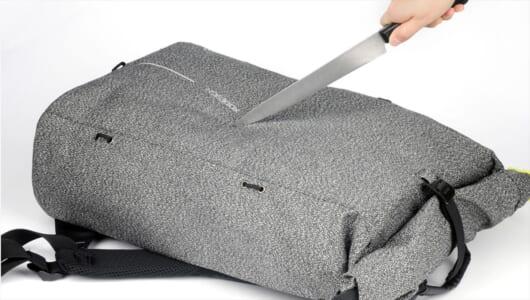 ナイフの刃が通らない!? 累計100万個売れた「スリを防ぐ多機能リュック」の新作が登場