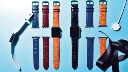 ビジネスシーンでも使いやすい! Apple Watch対応強撥水仕上げの牛革ベルト
