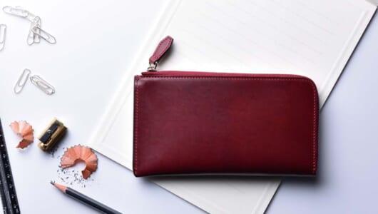 美しき「ムラ」と「艶」が ビジネスシーンにも映える! 超薄マチが使いやすい! UKコードバン長財布