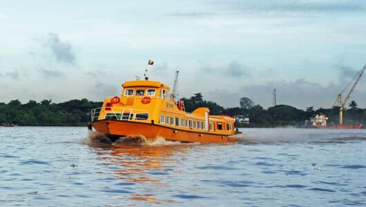 「視察ビジネスマン」が水上バスで観光?? ミャンマー・ヤンゴン港の異様な風景
