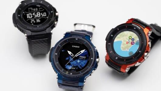 腕に巻いた瞬間に普段使いを想像! 強バッテリー&小型化したカシオ新スマートウォッチ「Pro TREK Smart WSD-F30」