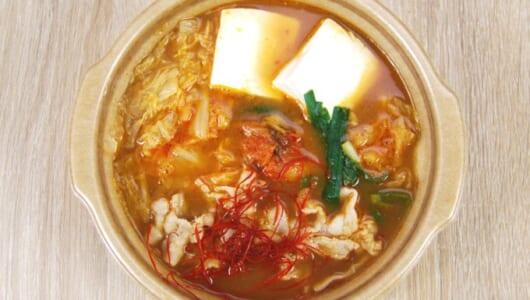 野菜不足解消に!もりもり野菜とピリ辛スープが食欲そそるセブンの新商品「キムチ鍋」