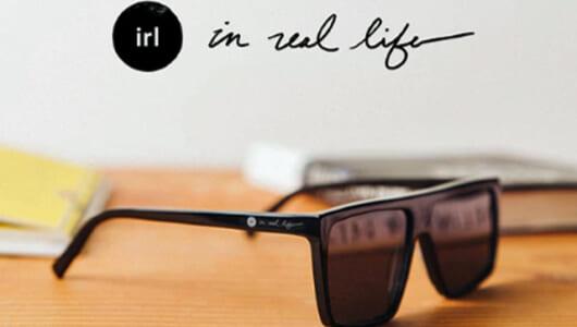 我々がテクノロジーをコンロトールする、という将来像を掲げる不思議なサングラス「IRL Glasses」