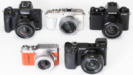 【保存版】人気ミラーレスカメラ5台を徹底比較! 初級者が見るべきポイントをプロが解説【外観&基本仕様編】