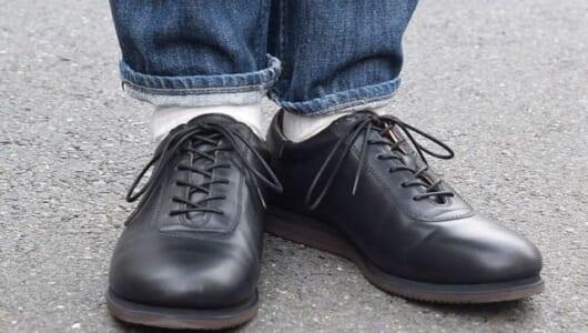 より革靴に近いスニーカーこと『blueover』のマルコ