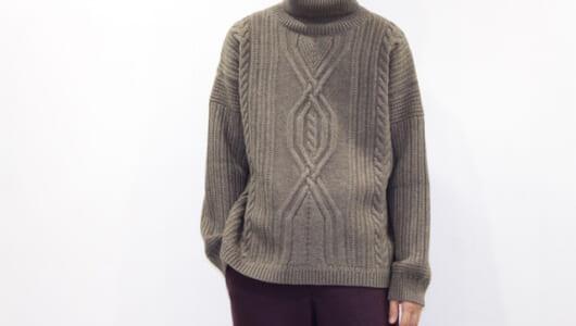 スタイリングが味気ないなら、「ケーブル編み」のニットがおすすめ