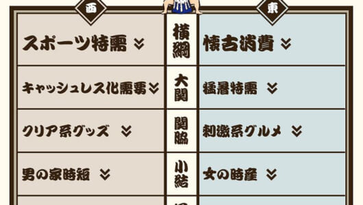 「楽天市場ヒット番付2018」で今年のトレンドを一挙おさらい!【関脇・小結編】