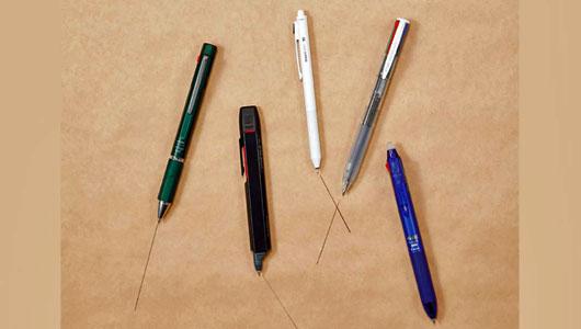 「多機能ペン=軸が太い」はもう昔の話。 プロが5本のオススメのペンを徹底チェック