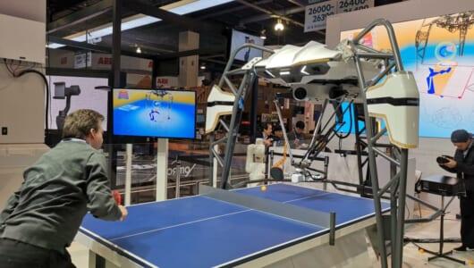 「CES 2019」でまさかの「卓球ロボ」と対決! 「フォルフェウス」から垣間見れるオムロンの技術力