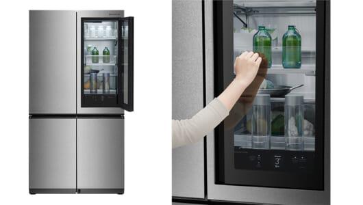 入ってますから! ノック2回で中身が見える「お値段8並び」の冷蔵庫