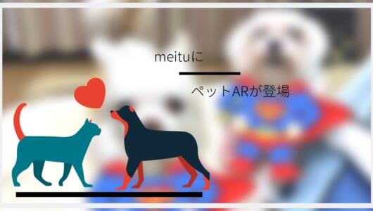 ペットも顔認証してかわいく盛れちゃうアプリ「Meitu」で【ペットAR】を遊ぼう!
