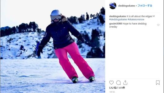 """初心者でもすぐにできそう! 雪上を滑走する""""スノースケート""""はノルウェー発のニュースポーツ"""