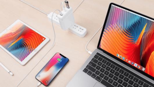 「Mac端子少ない問題」を丸ごと解決するアダプタ「HyperDrive USB-C Hub for Apple 87W /61W Power Adapter」