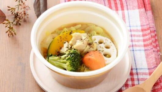 ライスじゃなくもち麦を使用!スパイシーなローソンの新作「彩り野菜とチキンのスープカレー」