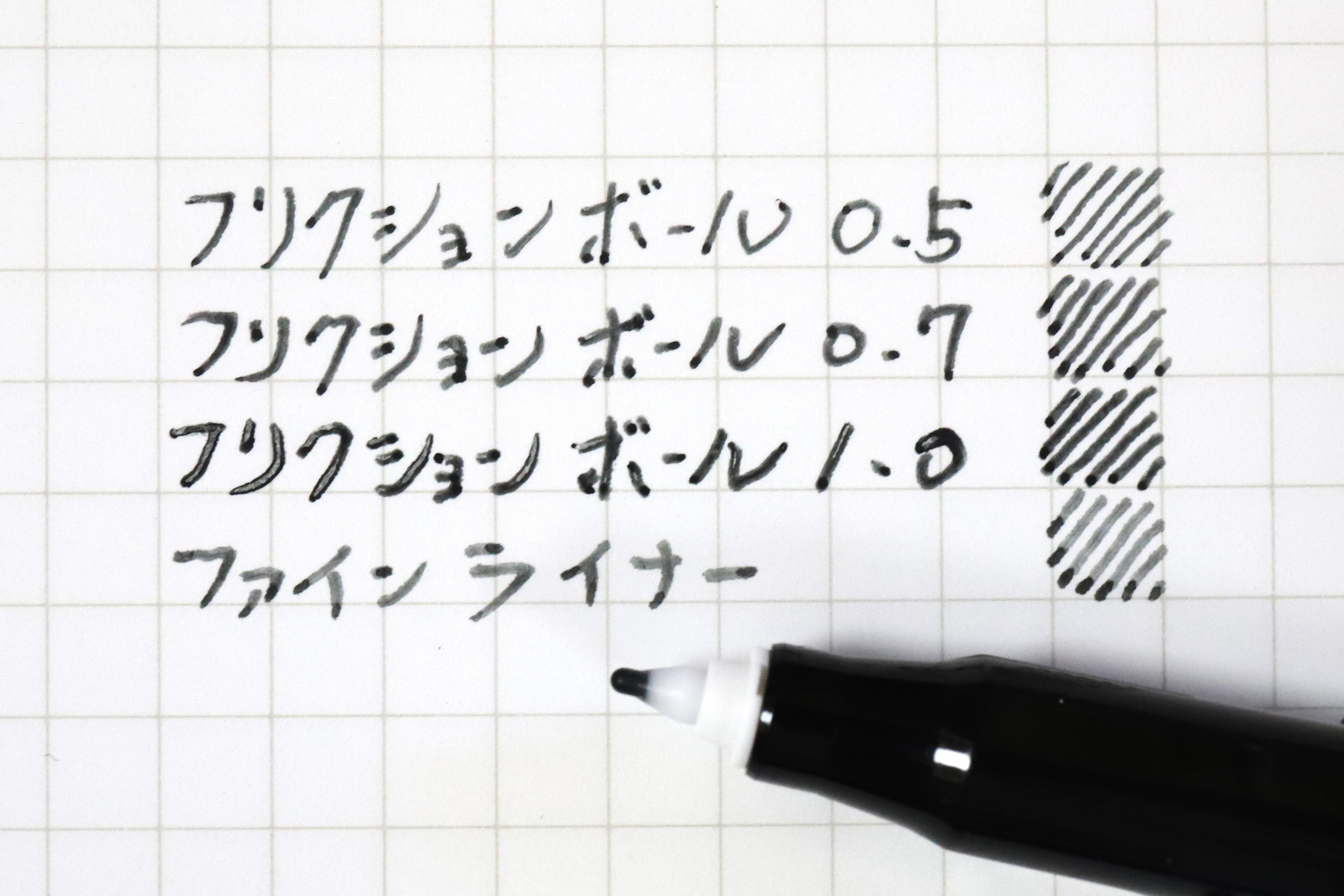↑描線の太さは0.7mm〜1.0mmぐらい。筆圧次第で強弱がつくので、やや太線に寄りがちだ