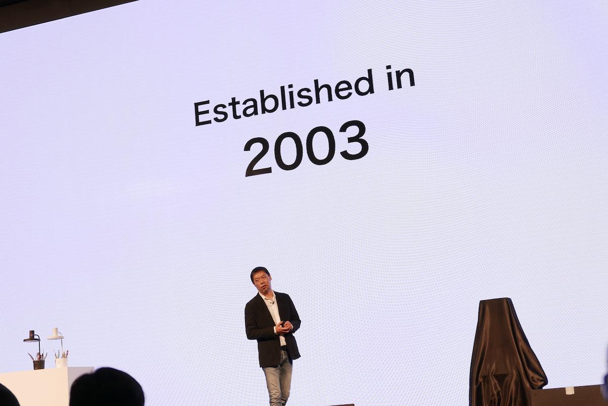 ↑韓国での初めての発表会は、起業当時を振り返るところから始まった