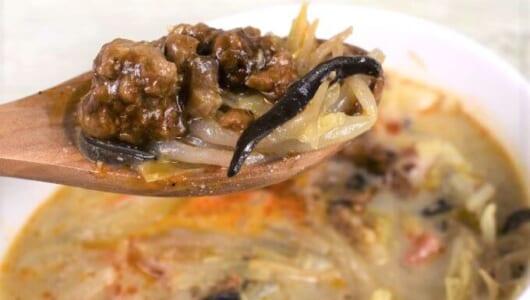 マイルドなスープに病みつき♡ ほどよい辛さとうま味を楽しめるセブンの「1/2日分の野菜! ごま豆乳担々スープ」