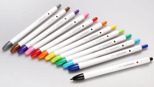ペン先が乾かない、上書きしても滲まない!ゼブラのノック式水性マーカーが全色集めたくなる優秀さ
