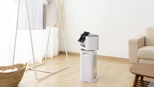 洗濯物が5倍早く乾かせる! 部屋干し派にオススメの「サーキュレーター衣類乾燥除湿機」