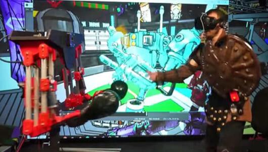 リアルに痛い! この「殴るロボット」でVRはまた一歩現実に近づいた