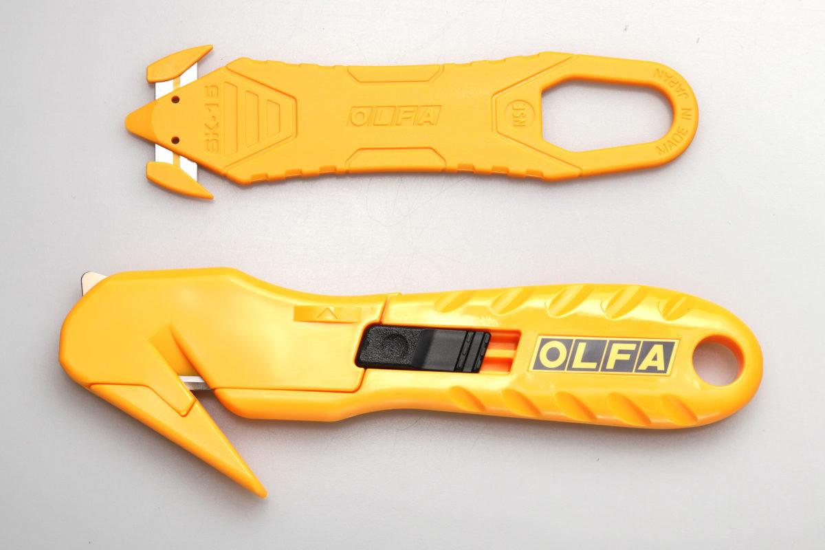 ↑カイコーン(上)とラップカッター(下)。カイコーンは使い切りだが、ラップカッターは刃の交換が可能