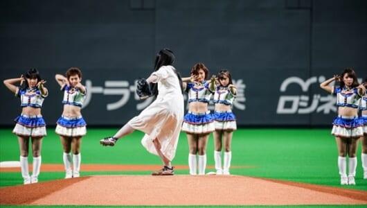 """""""怨霊界の大エース""""貞子の豪速球に球場どよめく"""