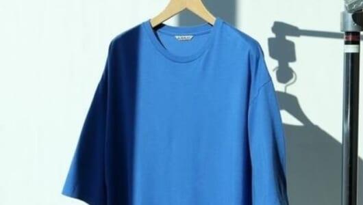 攻守万能な「AURALLE」の別注Tシャツ。テーラードもデニムJKもイケます